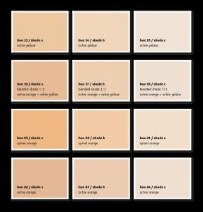 Colour Chart Wall Paints & Plasters - KREIDEZEIT Naturfarben