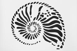 kreidezeit-naturfarben-schablonen-ammonit 1