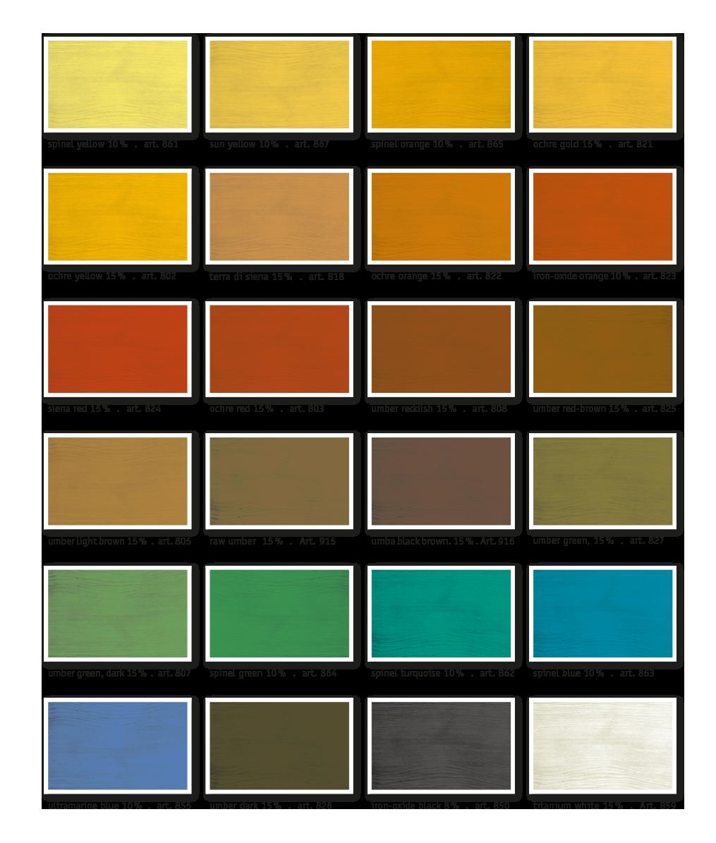 kreidezeit-naturfarben-colour-chart-pigments-in-oil